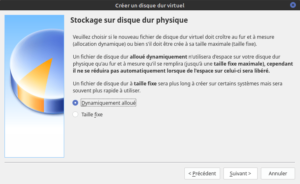 3 - type de stockage du disque virtuel sur disque physique