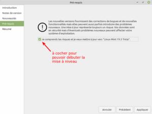 4 - Mise à jour vers Linux Mint 19.3 - Pré-requis