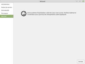 5 - Mise à jour vers Linux Mint 19.3 - fin