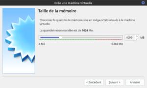 allouer RAM pour Ubuntu dans Virtualbox
