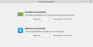 mintbackup pour sauvegarder les données personnelles