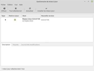 mise a jour noyau Linux v5.0