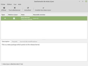 passage aux noyaux Linux branche v5.0