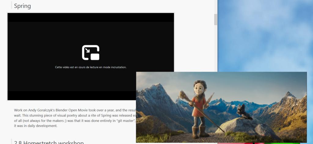 PiP Firefox - fenêtre vidéo détachée