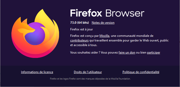 a propos firefox 73