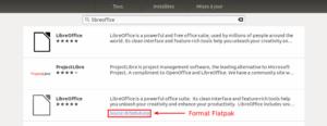 installer LibreOffice sur Ubuntu au format flatpak depuis le Ubuntu Software
