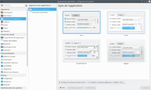 Paramètres style application dans KDE Plasma 5.18