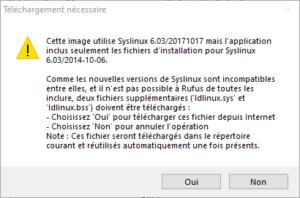 rufus - maj syslinux