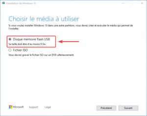 clé USB bootable installation Windows 10 - 4 - cle usb