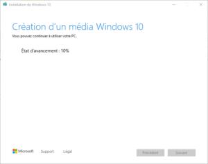 clé USB bootable installation Windows 10 - 7 - création