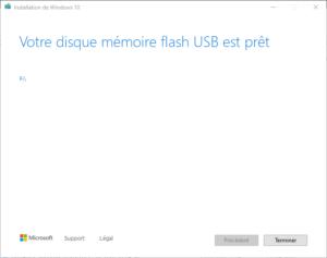 clé USB bootable installation Windows 10 - 8 - fin