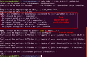 dpkg - installation fichier deb
