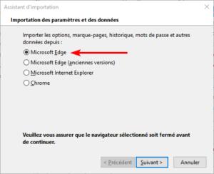 Import bookmarks Microsoft Edge