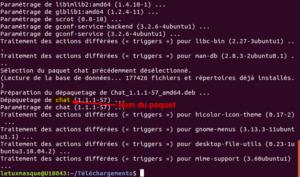 gdebi - fichier deb installé