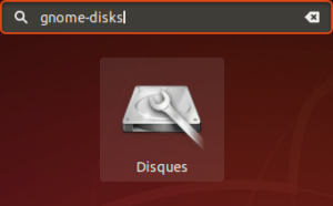 lanceur gnome-disks