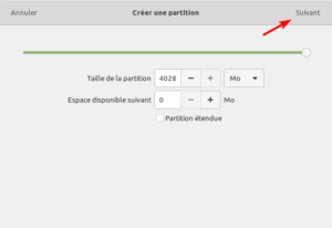 Gnome Disks - taille partition