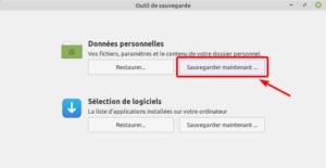 Sauvegarde données personnelles avec mintbackup