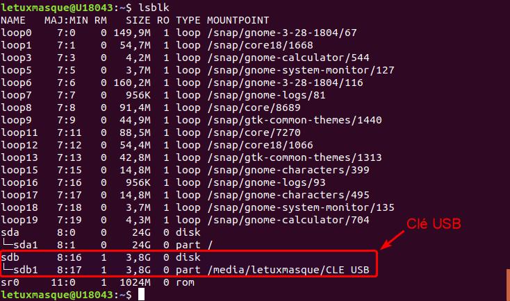 ubuntu - lsblk