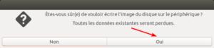 ubuntu - usb-creator - confirmation