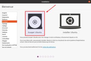 essayer ubuntu