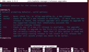 fichier release-upgrades dans Ubuntu 18.04