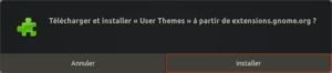 installation user themes