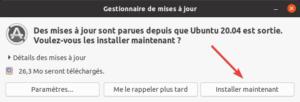installer mises à jour après installation ubuntu 20.04