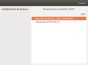 Configuration GRUB