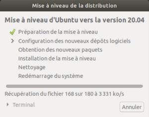 préparation mise a niveau vers Ubuntu 20.04 LTS
