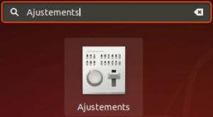 Lanceur GNOME tweaks dans Ubuntu pour modifier le thème