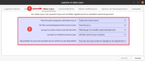 Ubuntu 20.04 - paramétrer mises à jour