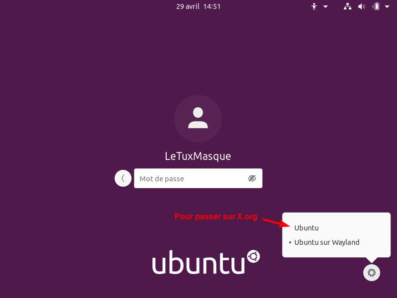 ubuntu choic wayland/x.org