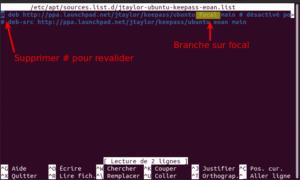 Restaurer dépôts après mise à niveau vers Ubuntu 20.04 LTS
