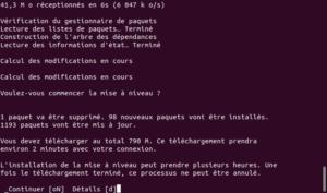 Validation démarrage mise à niveau vers Ubuntu 20.04 LTS