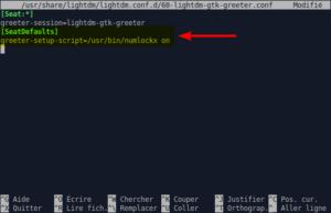 60-lightdm-gtk-greeter.conf modifié par activer le verr num au démarrage dans Xubuntu 20.04