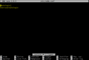 activer autologin en ligne de commande sur kubuntu 18.04