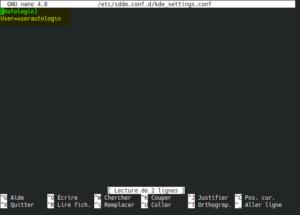 activer autologin en ligne de commande sur kubuntu 20.04