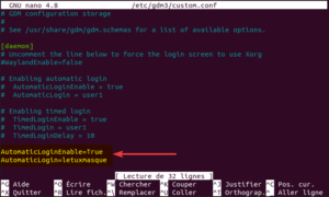 activer autologin en ligne de commande sur ubuntu
