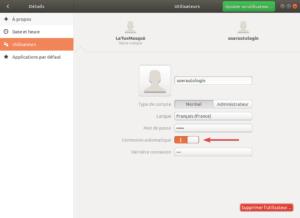 activer auto-login Ubuntu 18.04