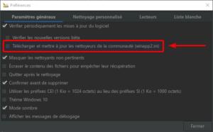 activer nettoyeurs supplémentaires sous Windows