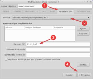 changer DNS dans variantes Ubuntu