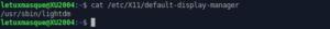 default display manager Xubuntu