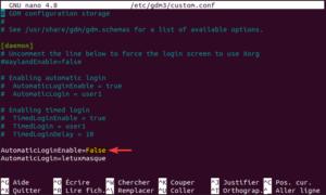 désactiver autologin en ligne de commande sur ubuntu