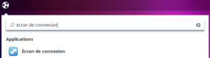 écran de connexion Ubuntu Budgie