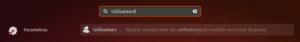 lanceur paramètres utilisateurs Ubuntu 18.04