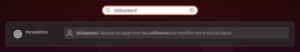 lanceur paramètres utilisateurs Ubuntu 20.04