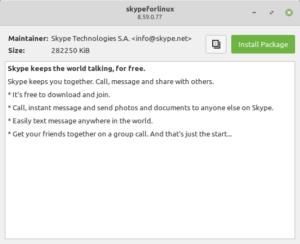 "interface GDebi dans Linux Mint 20 ""Ulyana"""