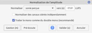 normalisation R128 dans Audacity 2.4