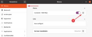 paramètres réseau dans Ubuntu