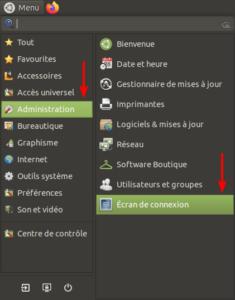 accès écran de connexion dans Ubuntu Budgie 20.04